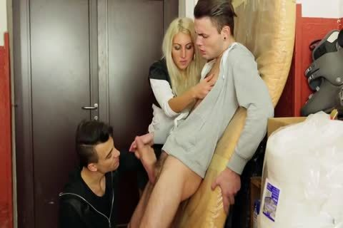 Blode And Two boys With Some Bi Action