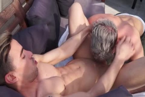 Muscle homosexual anal poke With Facial