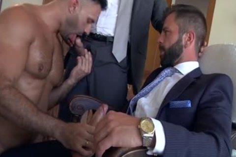 Muscle homo three-some And sex cream flow
