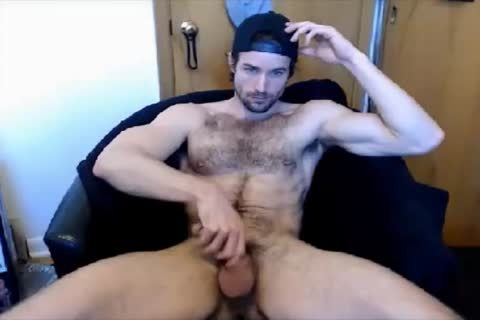 fashionable bushy guy handjob On cam