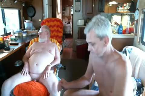 Daddy suck grandpa On webcam
