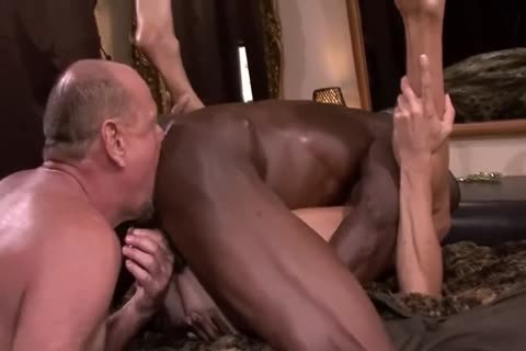 Interracial older trio