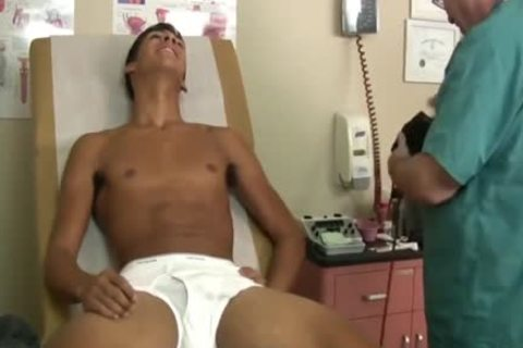 Medical Exam Of excited Latino twink