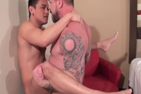 asian Daddy booty stab With spunk flow