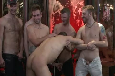 attractive gay spanking And Facial