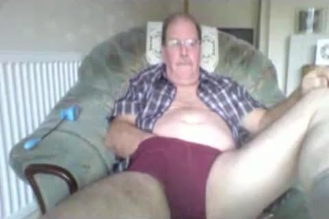 old man jerk off On web camera