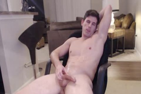Straight Ripped Hunk loves Fingering His a-hole