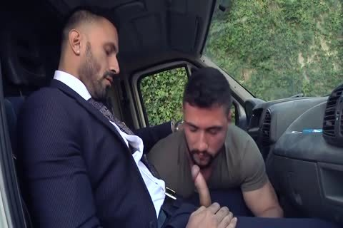 Alpha Truck Driver drilled By Suit Hunk