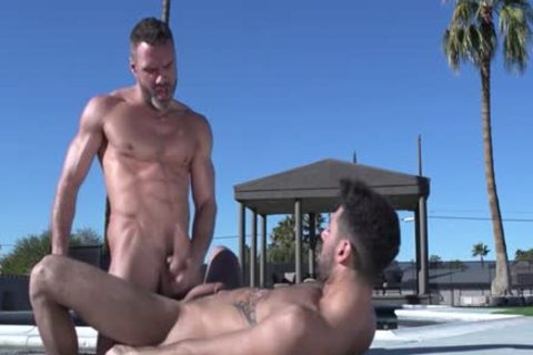 Muscle Bear anal And cream flow
