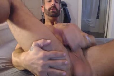Straight guy Plays With His ass And Monster rod