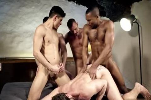 lusty gay double penetration With cumshot