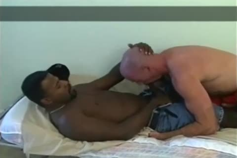 black Daddy's pleasing throat And butt hole