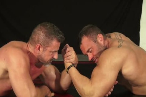 Muscle guy And Dilf Wrestle