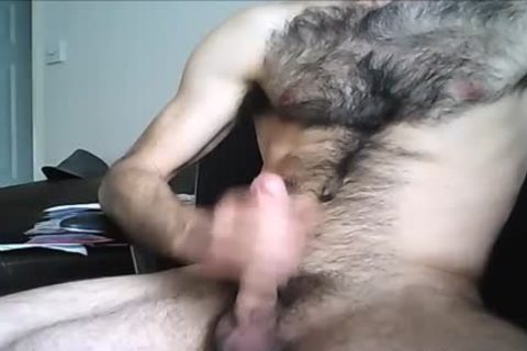 bushy Hung stud discharges A monstrous Load