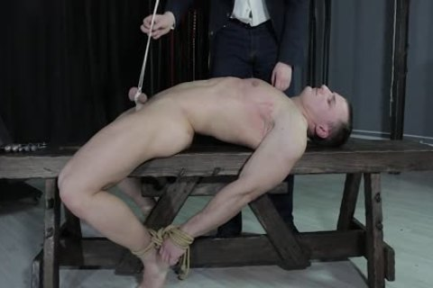 nasty twink tied Down, Balls Strung Up And Spanked