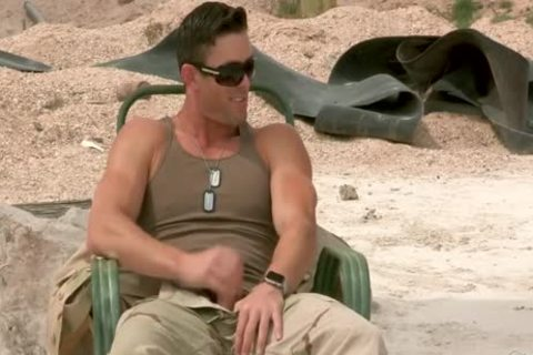 Hottest gay Scene With Outdoor, Military Scenes