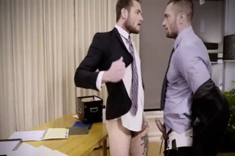 Tattoo homosexual anal-copulation And Creampie