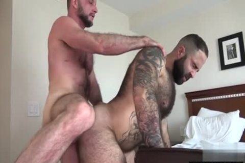 shaggy Bear Flip Flop With ejaculation