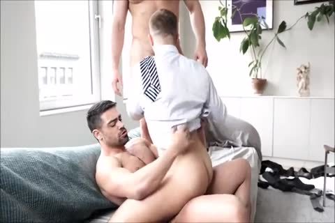 Three bushy Suited Muscle men bareback And Breed