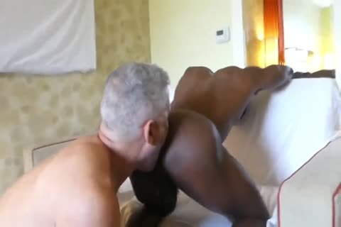 Hung White daddy juicy black anal