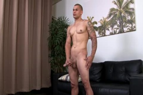 Hung muscular Hunk Stroking His humongous Uncut penis