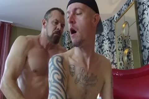 Robert Rexton receive's fucked By Muscle Daddy's Max Sargent & Chance Caldwell