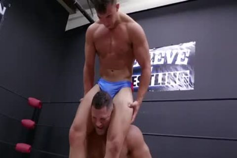 Daddy And Son Wrestling! Daddy Is So kinky In Minimal Speddo, almost A thong