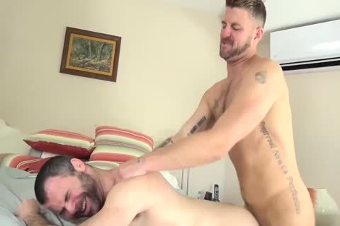 Christian And Dusty fuck bare
