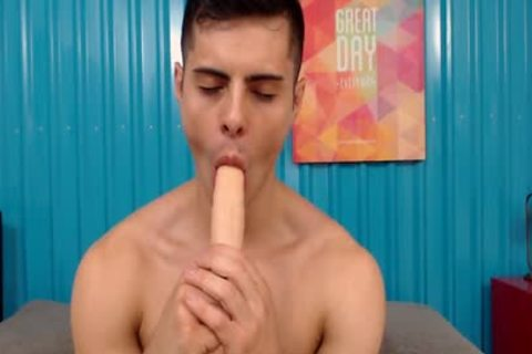 dirty athletic Latino slips Two toys In His wazoo