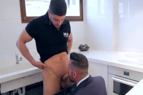 get His butthole fucked By Plumber