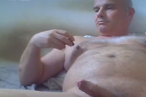 mature man Love Ventouse On nipples And fake penis In wazoo