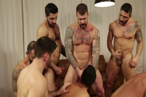 Rocco steel's Breeding Party Grows To Nine chap orgy