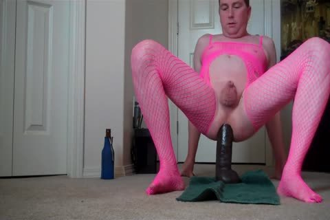 Micropenis Sissy Jeffrey Hewitt Rides A biggest sextoy And Cums
