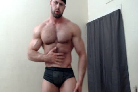 curly Chest Muscle Worship