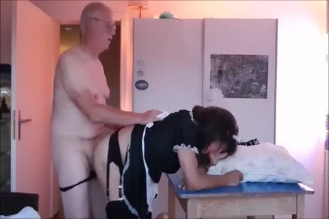 Maid Sissy Cleans house Sucks rod receives drilled