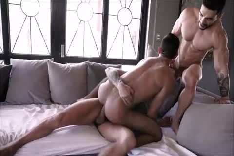 wild Spanish bareback trio With Daddies And wild Hunky Son
