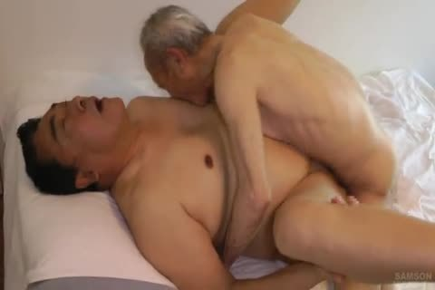 Japanese overweight Daddy Sex With thick penis grandpa