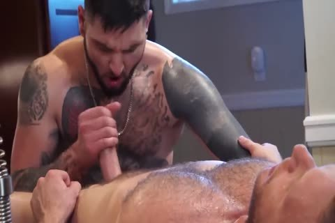 Tattooed lad gets His ass opening Massaged