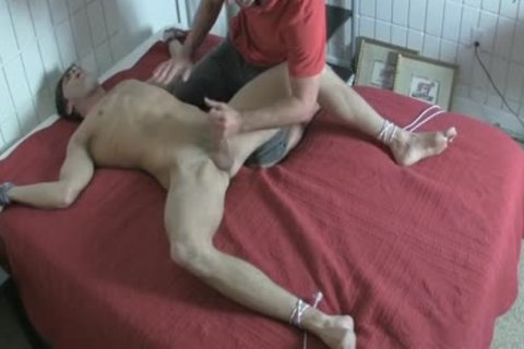 fastened Up Foot Tickle And castigation