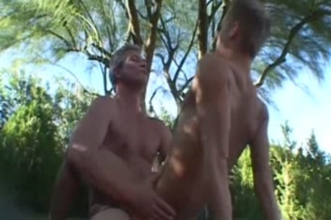 Tim And Ray poke bare Outside