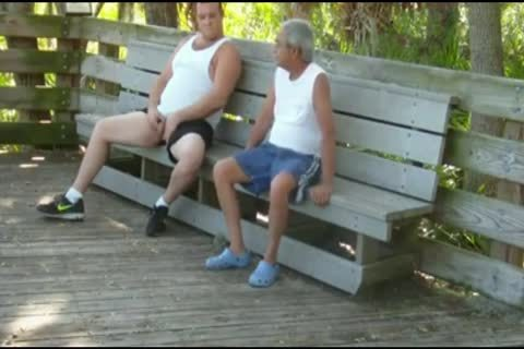 outdoors Scenes Where grandad Sucks & receives poked By fat