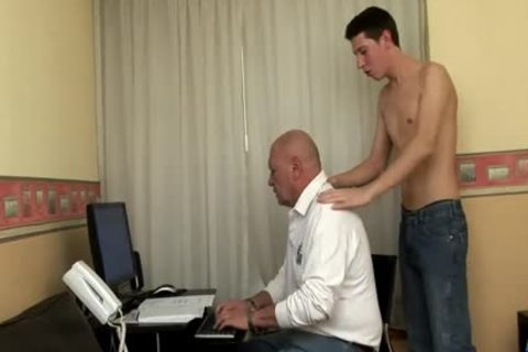 big Dicked twink bonks daddy bulky grand-dad