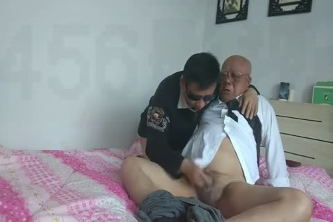 young Chinese Sucks & bones His grand-dad friend