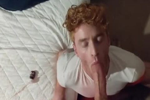 Blown By youthful Ginger shaggy-haired twink
